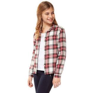 Junior Girls' [7-14] Plaid Button-Down Shirt