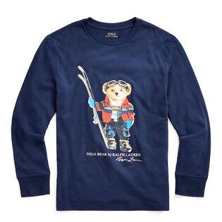 Chandail Ski Bear en jersey de coton pour garçons juniors [8-20]