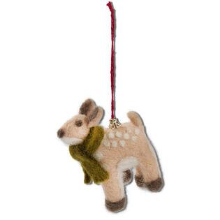 Evergreen Deer Ornament