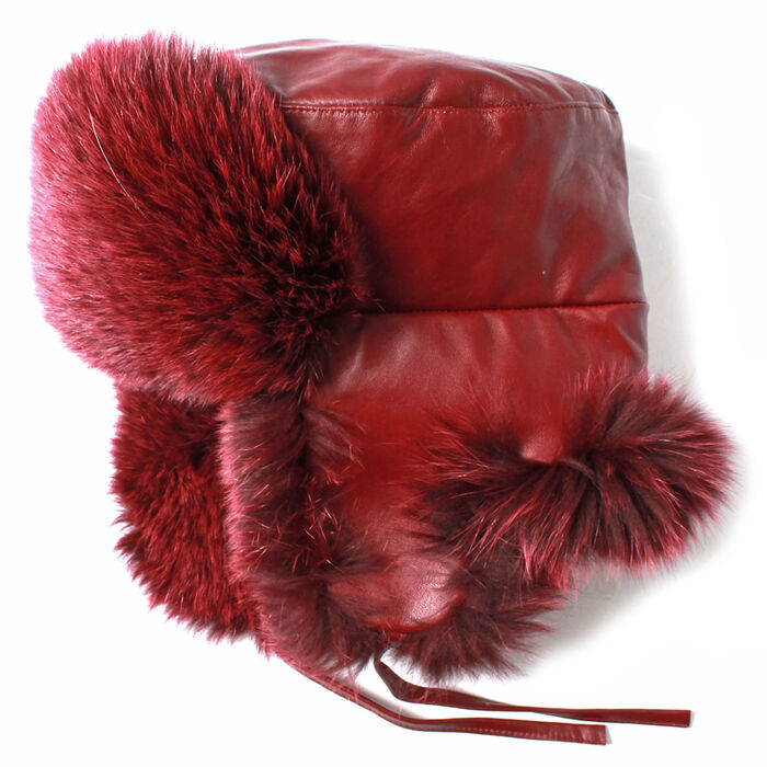 Women's Dyed Fur Trapper Hat