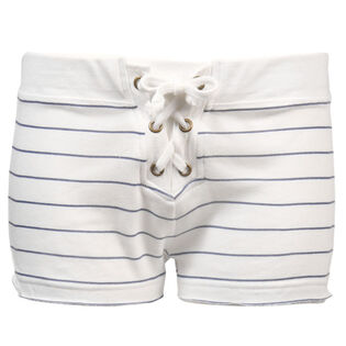 Women's Striped Lace-Up Short