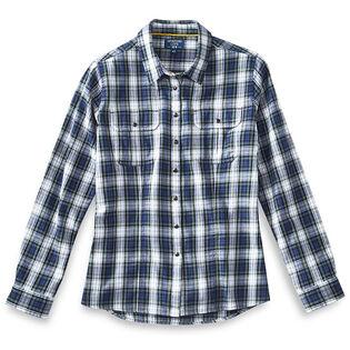 Women's Woven Flannel Flap Pocket Shirt
