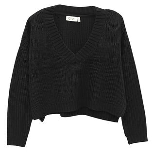 Women's V-Neck Cropped Sweater