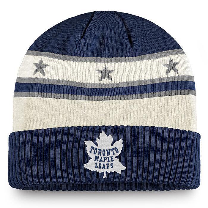 Tuque en tricot Toronto Maple Leafs à ourlet retourné pour hommes