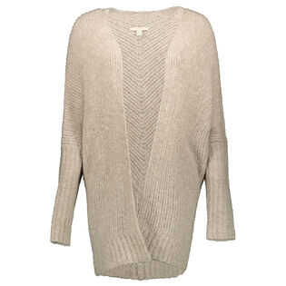 Women's Textured Open Cardigan