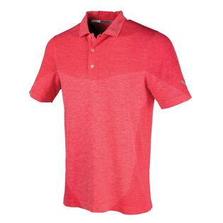 Polo de golf sans coutures evoKNIT Block pour hommes