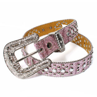 Kids' Glittery Horseshoe Concho Belt