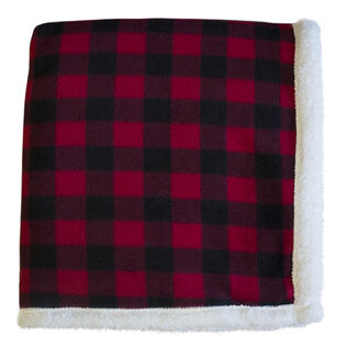 Lumberjack Sherpa Throw Blanket