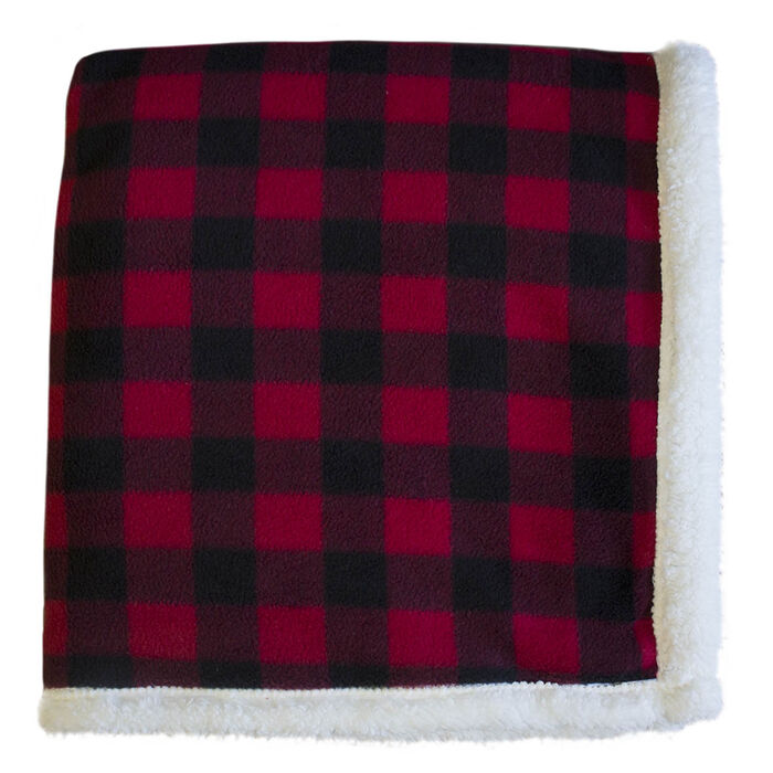 Lumberjack Sherpa Throw Blanket