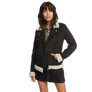 Women's Gateway Games Faux Suede Pilot Jacket