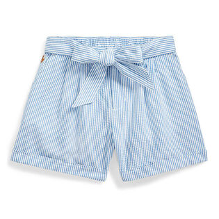 Junior Girls' [7-16] Belted Cotton Seersucker Short