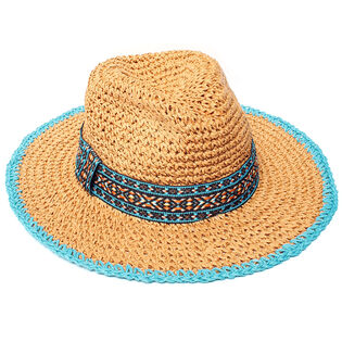 Crochet Straw Hat