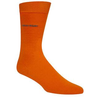 Men's Cotton Rich Flat Knit Crew Sock