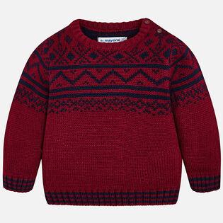 Chandail en tricot bavarois pour bébés garçons [12-36M]