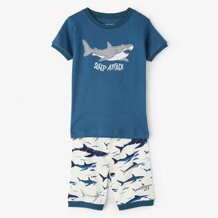 Boys' [2-10] Toothy Sharks Two-Piece Pajama Set