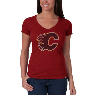 Women's Calgary Flames Distressed Team T-Shirt