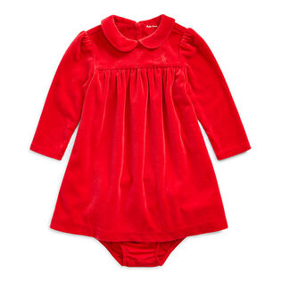 Baby Girls' [3-24M] Velour Dress + Bloomer Set