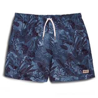 Men's Navy Watercolour Swim Trunk