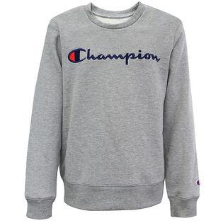 Junior Boys' [8-16] Embroidered Logo Crew Sweatshirt