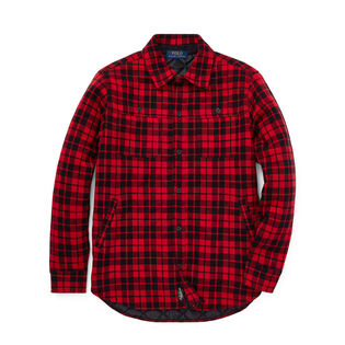 Junior Boys' [8-20] Plaid Double-Knit Shirt Jacket