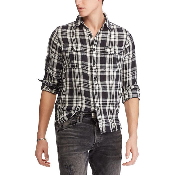 Men's Classic Fit Plaid Workshirt