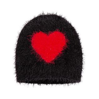 Tuque en tricot avec coeur pour filles