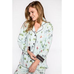 Women's Apres-Ski We Sleep Flannel Pajama Set