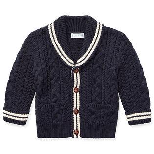 Baby Boys' [6-24M] Aran Knit Cotton Cardigan