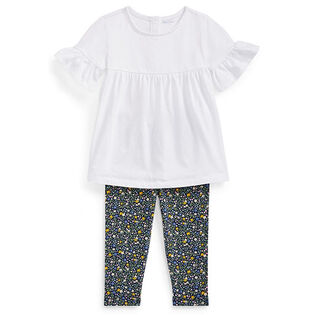 Baby Girls' [3-24M] Top + Floral Legging Two-Piece Set