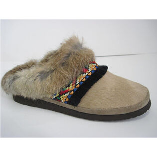 Women's Beaded Fur Slipper