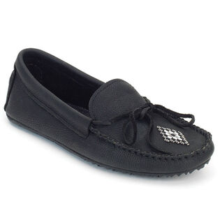 Women's Canoe Grain Leather Moccasin