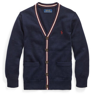 Boys' [2-4] Cotton V-Neck Cardigan