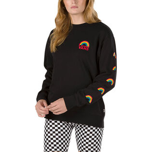 Women's Make It Rainbow Pullover Crew Sweatshirt