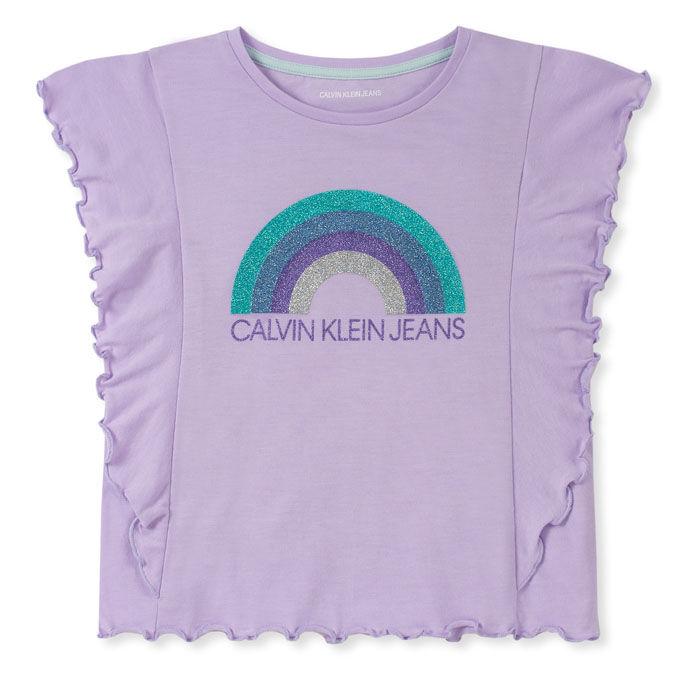 T-shirt Rainbow à volants pour filles juniors [8-16]