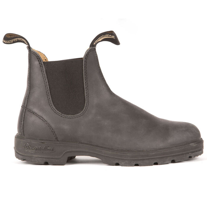 #587 The Leather Lined Boot In Rustic Black