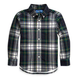 Boys' [2-4] Tartan Cotton Corduroy Shirt