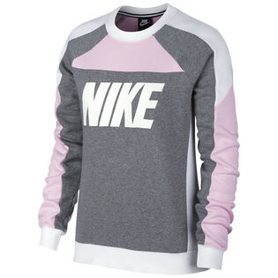 Women's Fleece Colourblock Crew Sweatshirt