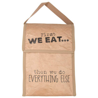 First We Eat Insulated Lunch Bag