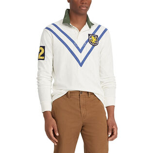 Men's Classic Fit Patchwork Rugby Top