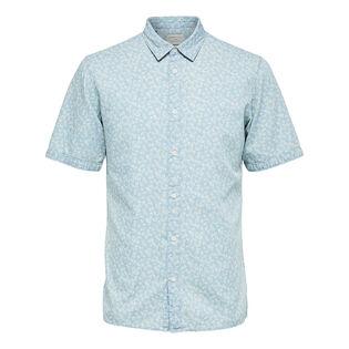 Men's Floral Slim Short Sleeve Shirt