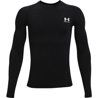 Junior Boys' [8-16] HeatGear® Armour Compression Long Sleeve Top