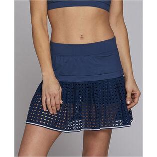 Women's Pointelle Mesh Lace Skort