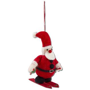 Skiing Santa Ornament