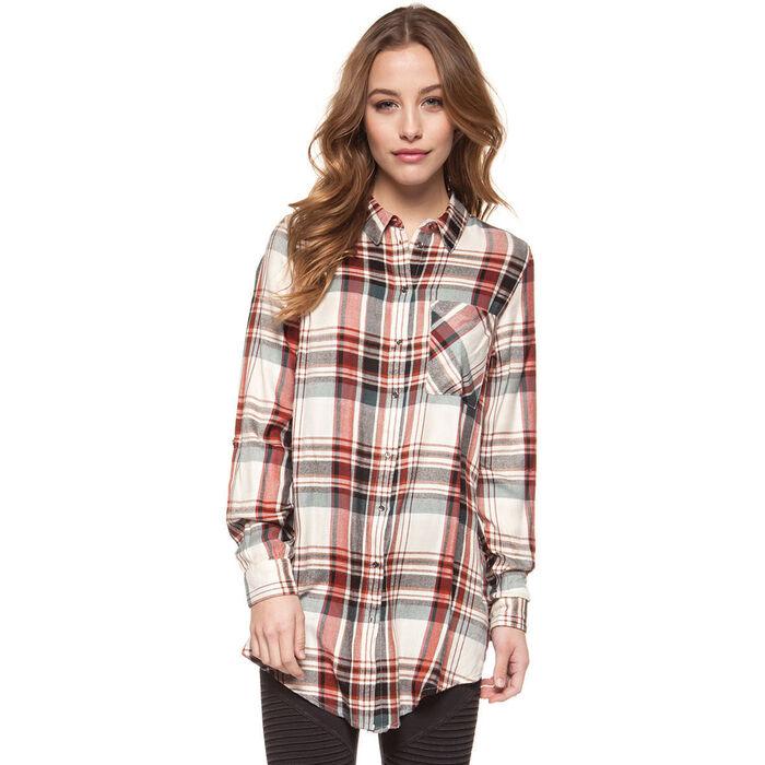 Women's Plaid Tunic Shirt