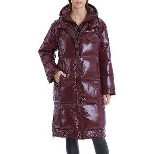 Manteau bouffant à longueur des genoux pour femmes