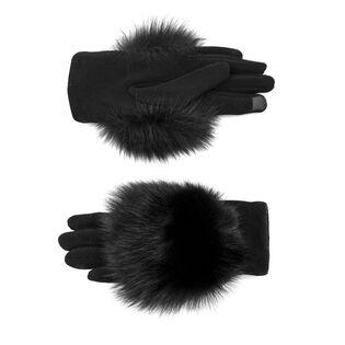 Women's Fur-Trimmed Fleece Glove