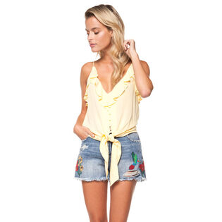 Women's Tie-Up Ruffle Tank Top