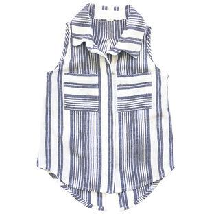 Junior Girls' [8-14] Sleeveless Pocket Shirt