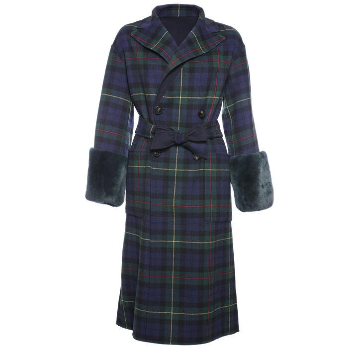 Manteau réversible Diego en laine pour femmes