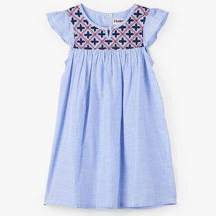 Girls' [2-6] Nautical Stripes Embroidered Dress